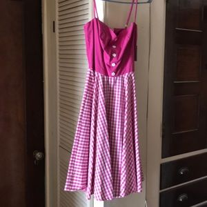Pink hell bunny dress xs